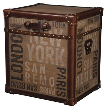 The Dakota trunk is unique with travel spirit and a rustic old fashion feel and perfect for storing you goods. The gorgeous leather finish and natural ash print make this a truly stylish addition to your decor.