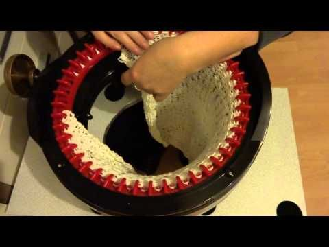 How To Make a Brimmed Hat on addi Express King Size Knitting Machine - YouTube