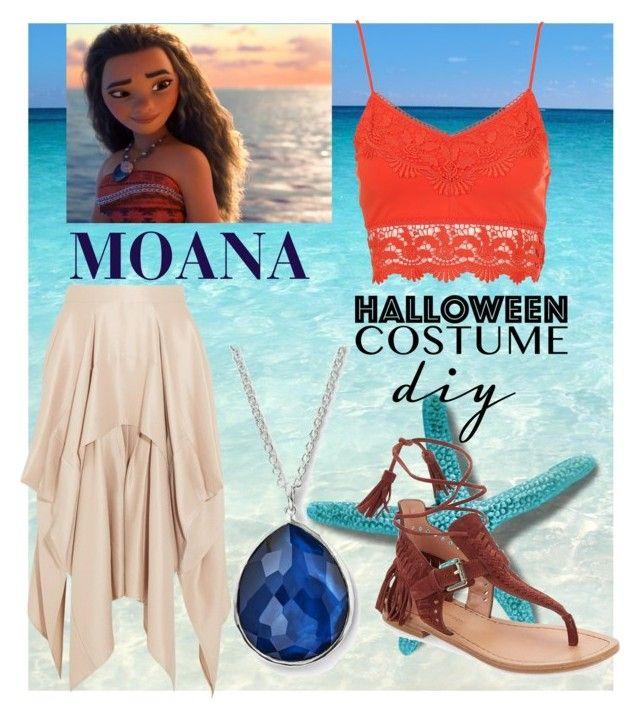 """moana halloween costume"" by nada-nody ❤ liked on Polyvore featuring Disney, Barbara Casasola, Ippolita, Sigerson Morrison, halloweencostume and DIYHalloween"