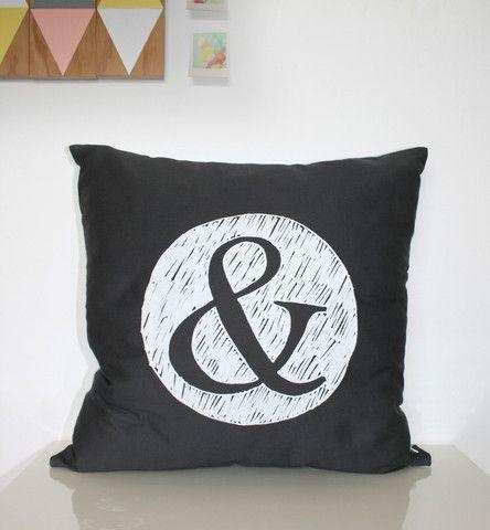'&' Cushion - Charcoal - The Art Room