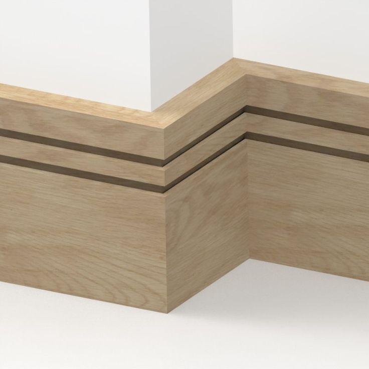 Solid Oak Square Double Edge Skirting 3 metre from LoveSkirting.co.uk