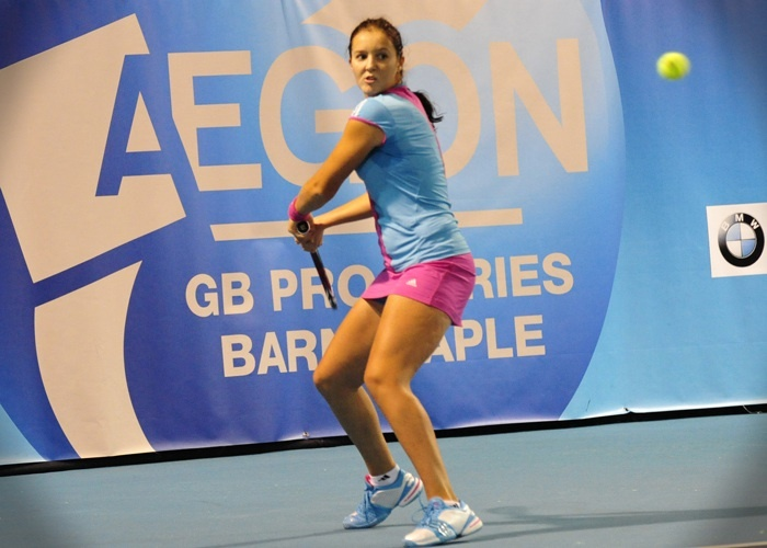 British girls Laura Robson in action vs Heather Watson 2011    Twitter / Recent images by @BarnstapleOpen