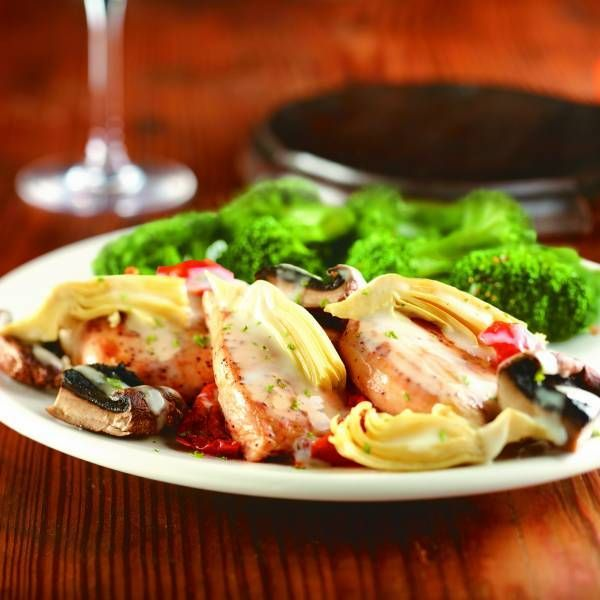 Grill chicken with the Big 4 seasoning and pair it with delicious Napa vegetables like portabella mushroom caps, artichoke quarters, and roasted tomatoes.