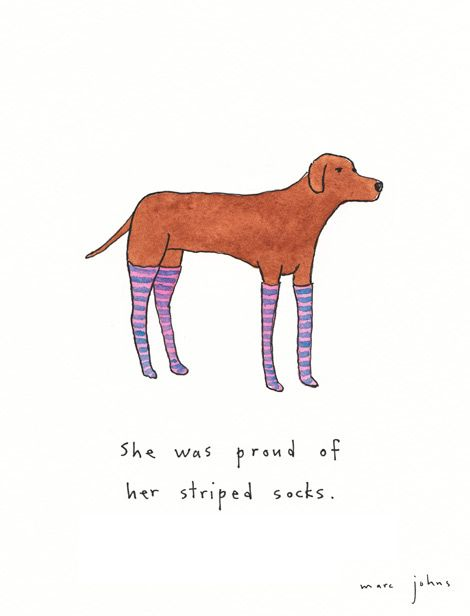 Marc Johns: she was proud of her striped socks