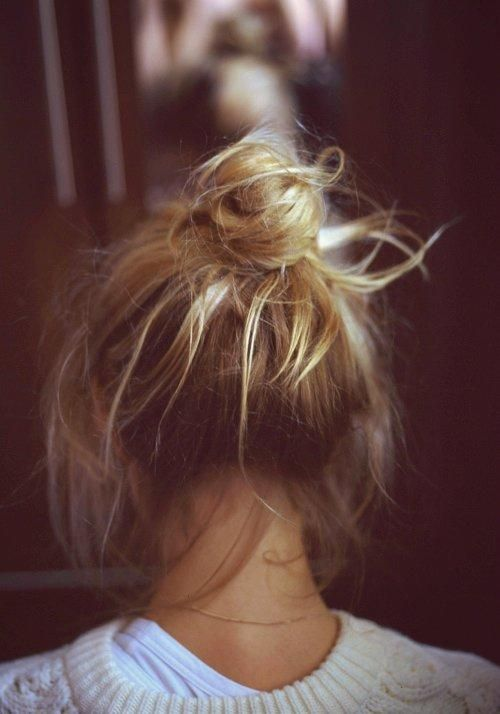 Messy bun, that is actually on point.