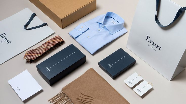 Branding tailored to the elegant and modern aesthetic of menswear brand, Ernst by Ernst, by @Larssen & Amaral