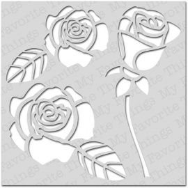 My Favourite Things Mix-Ables Stencils Rose Builder