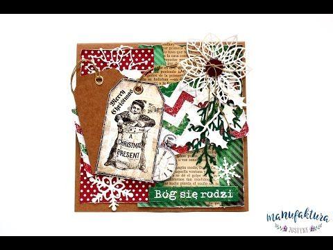 Kartka na Boże Narodzenie – Manufaktura Justyny – artykuły do rękodzieła i ozdoby hand made