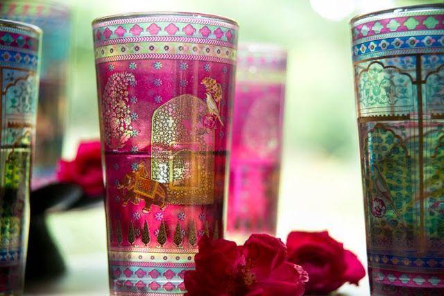 Serai decorated glassware