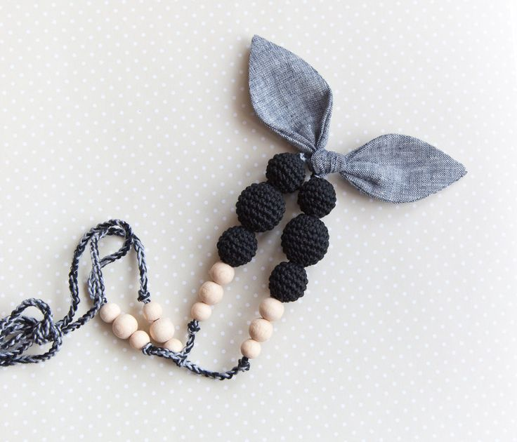 Fabric nursing necklace
