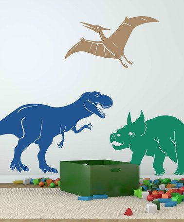 Take a look at this Dinosaurs Wall Decal Set by Sissy Little on #zulily today! $29.99