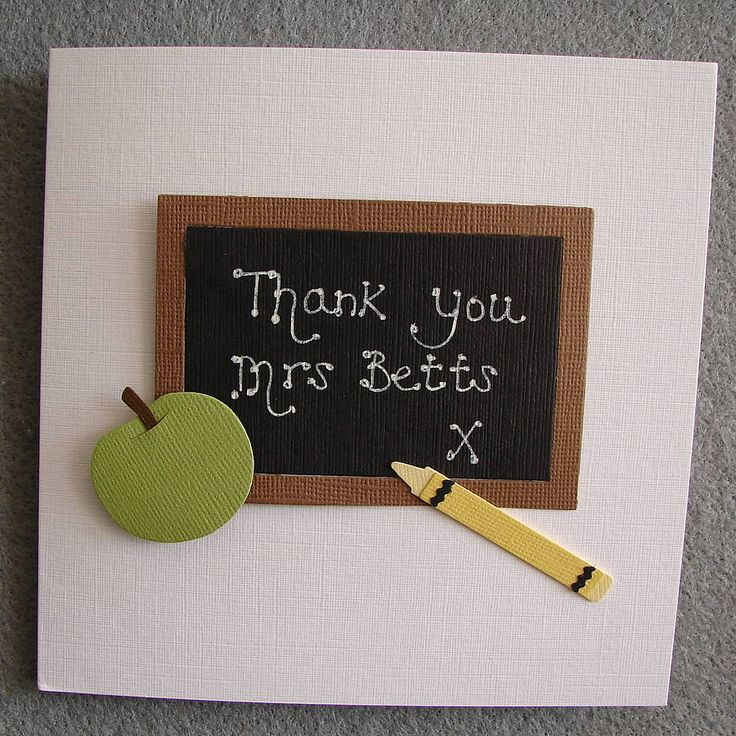 personalised teacher thank you card by kitty's | notonthehighstreet.com