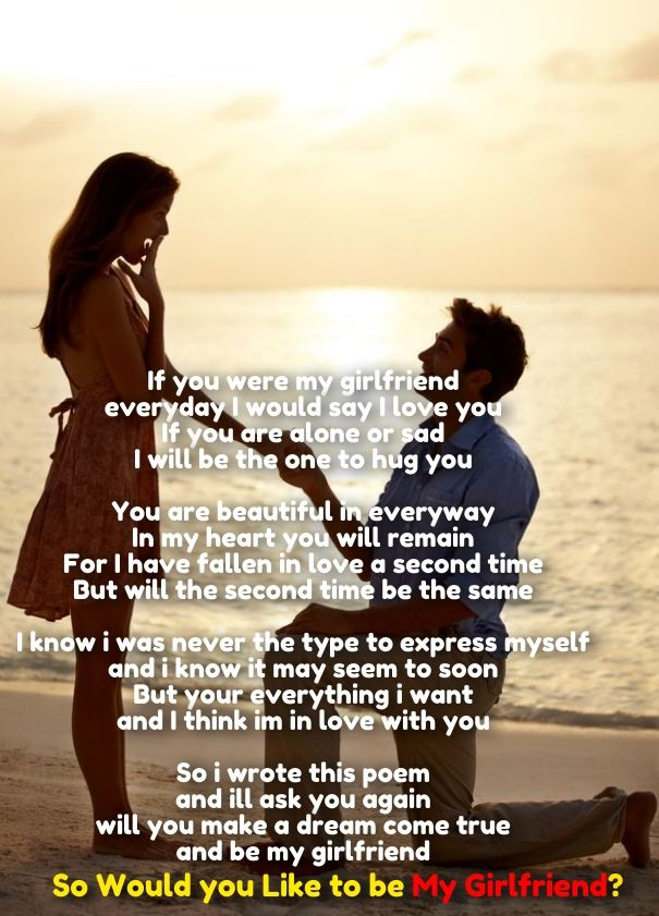 Would You Like To Be My Girlfriend Poem Cute Love Quotes For Her