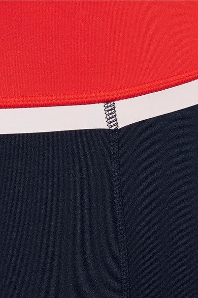 Tory Sport - Color-block Stretch-tactel Leggings - Navy - x small