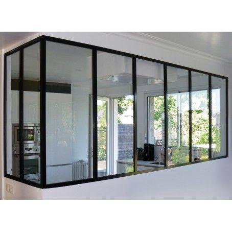 Verri re atelier cloison vitr e de s paration cuisine et for Verriere cloison vitree