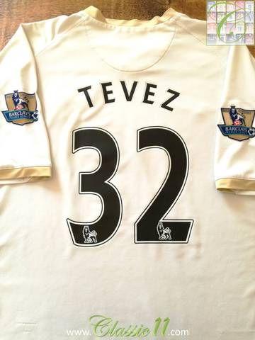 2007/08 Man Utd 3rd Premier League Football Shirt Tevez #32 (XXL)
