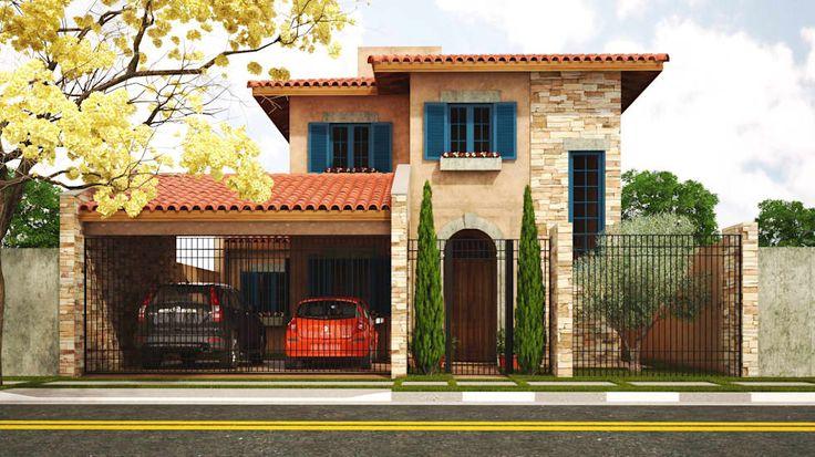 Casa Toscana - Jd. Campo Belo: Casas  por Leonardo Morato Arquitetura