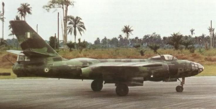 Il-28 jet bomber of the Nigerian Air Force during the Nigerian civil war.