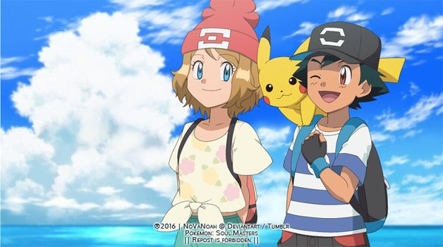Amourshipping ash and Serena alola