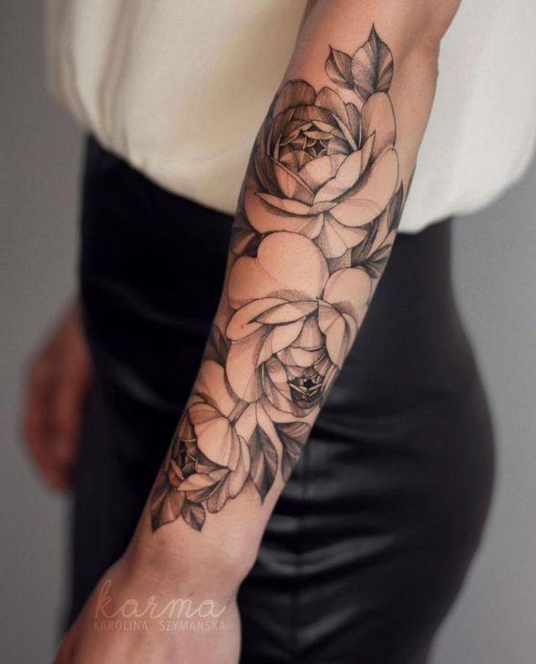 70 einfach schöne Blume Tattoo Zeichnung Ideen für Frauen #blu #     Basteln