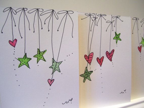 Ten Christmas Watercolor Originals Blank por betrueoriginalart