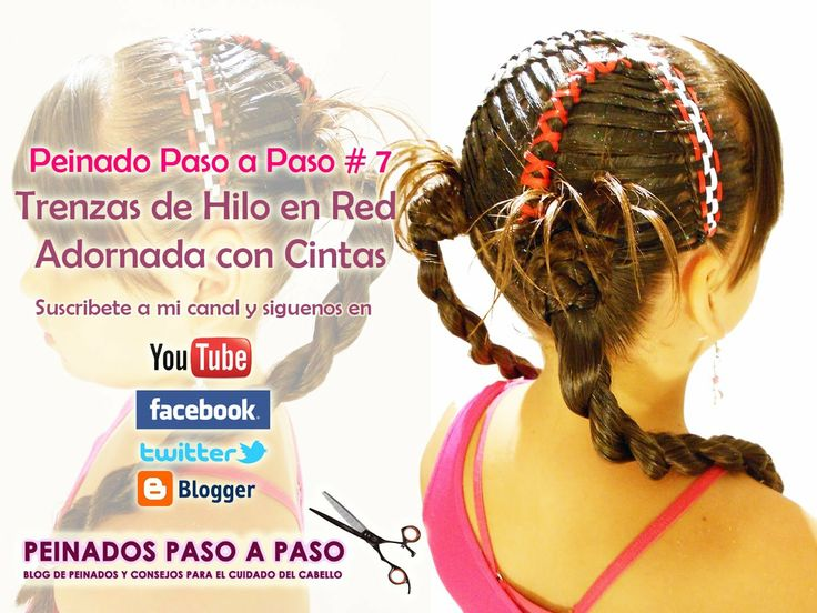 PEINADOS PARA NIÑAS on Pinterest | Little Girl Hair, Ribbon ...