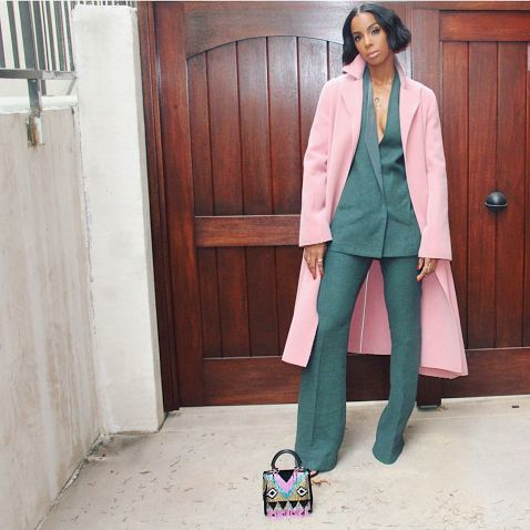 kelly-rowland-akris-ports-1961-instagram-1 , Look of the Week featuring First Lady Michelle Obama in Gucci, Teyana Taylor in Jason Boateng, Gigi Hadid in Versace and More! , Happy Friday, ya'll! We have 15 more days until Christmas! I'm too excited! In the meantime, let's get into some of our favorite celebrity looks from the past week. 1) Kelly Rowland in Akris and Ports 1961 Kelly Rowland...