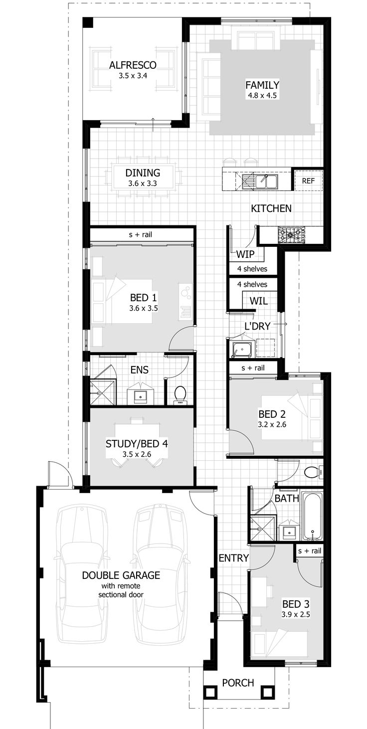 Best 25 narrow lot house plans ideas on pinterest for Narrow lot homes single storey