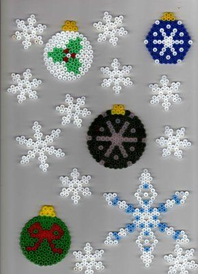 Christmas ornaments hama beads - Parvathie