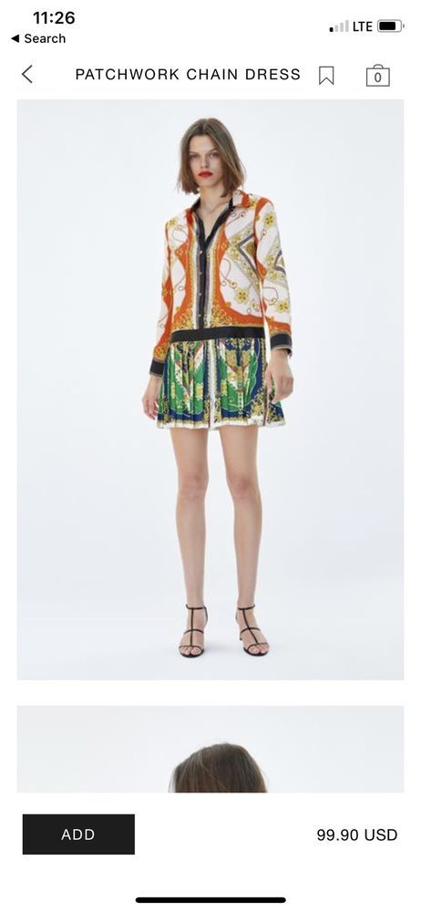 zara patchwork print dress ebay