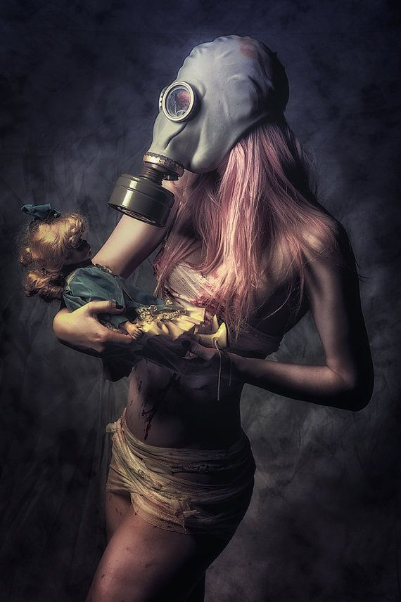 Maternity surreal portrait of girl in gas by ...
