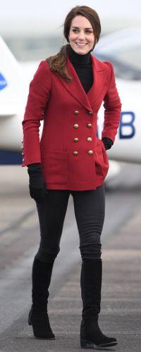 14 Feb 2017 - Duchess of Cambridge visits RAF Air Cadets