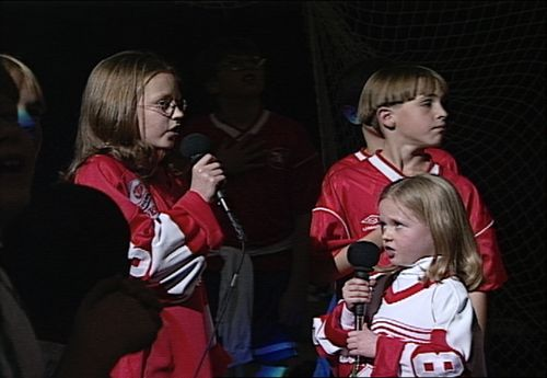 Alyonka Larionov + Diana Larionov   Joe Louis Arena, Detroit   Fall 1997  