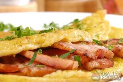 Receita de Omelete com bacon em receitas de ovos, veja essa e outras receitas aqui!