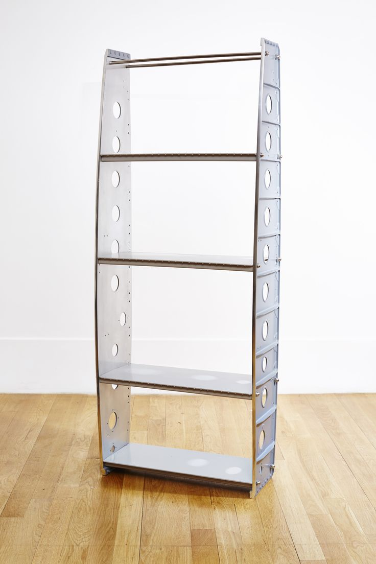 our aviation book stand made using some of the ribs from the plane