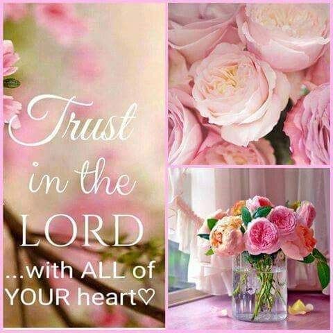 """""""Trust in the LORD with all thine heart; and lean not unto thine own understanding."""" Proverbs 3:5 KJV"""