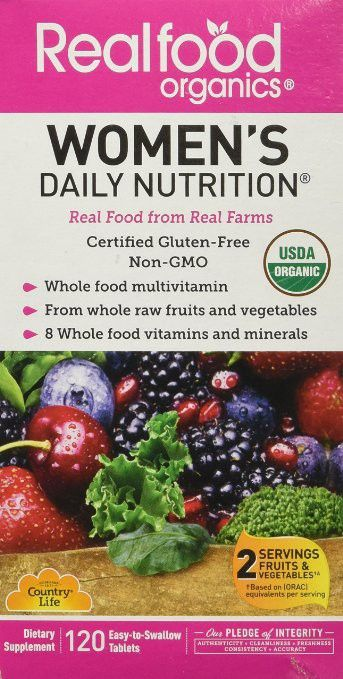 Regilar Price $61.99 | Country Life Women's Daily Nutrition RFO     -Whole food multivitamin  -From whole raw fruits and vegetabiles  -8 Whole food vitamins and minerals  -USDA certified organic  -Women specific formula