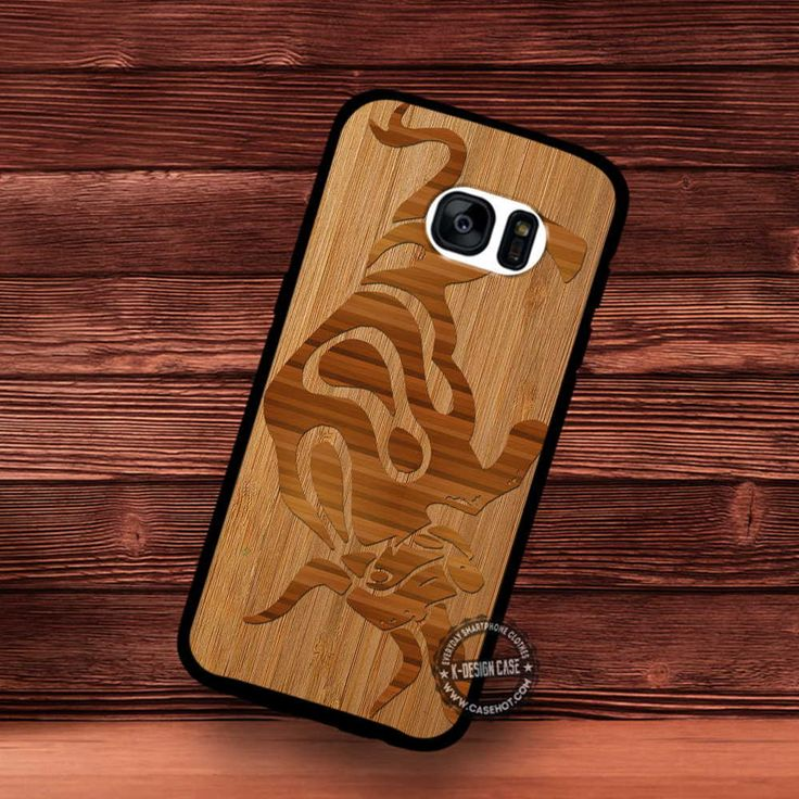 Bull Animal Tribal Wood Texture - Samsung Galaxy S7 S6 S5 Note 7 Cases & Covers