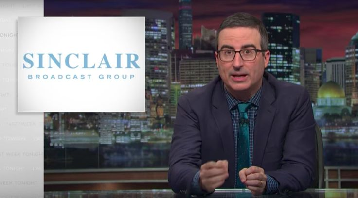 Sinclair Broadcast Group's conservative bias, according to John Oliver.