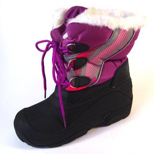 Makotex Mädchen Winter Stiefel Gr.30-35 Lila Snowboots Teddyfutter - http:/  · WinterBoots
