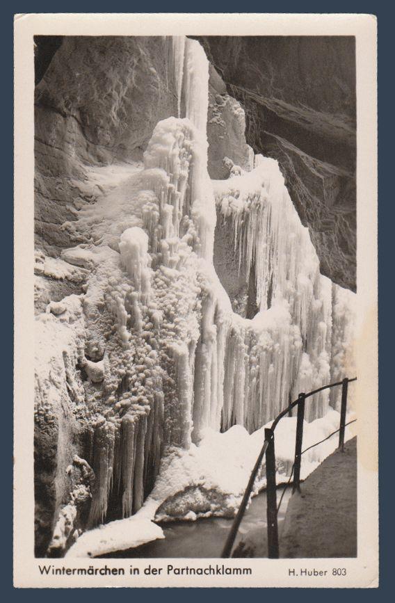 Postcards - Germany #  766 - Wintermarchen in der Partnachklamm, Upper Bavarian Alps