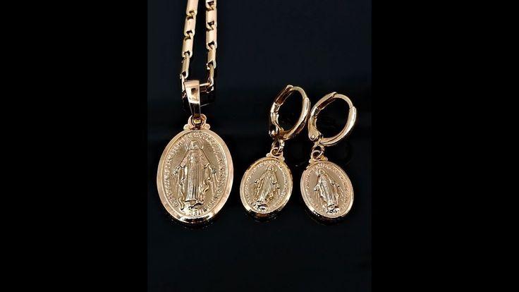 Mutter Maria Halskette Ohrringe Set rose gold überzogen  https://rwa-schmuck.de/products/mutter-maria-halskette-ohrringe-set-rose-gold-uberzogen #MutterMaria #MariaAnhänger #MarienAnhänger #MariaKette #MutterMariaAnhänger #MutterMariaOhrringe