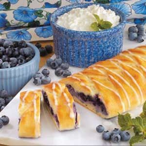 Blueberry Cheese Danish Recipe. I'm eating this warm from the oven right now. Love this recipe.