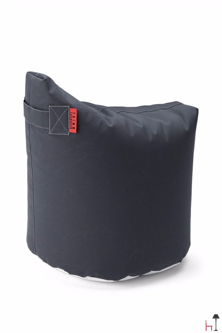 Satellite 48 is a small pouf or chair with a seat like a saddle - a further development of a beanbag with a new shape.