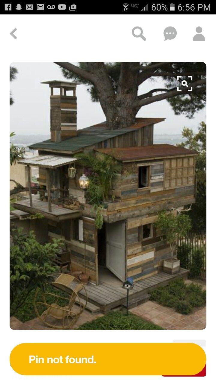 Schon Palletenhaus, Haus Bäume, Paletten Ideen, Palettenprojekte, Strandhäuser,  Kleine Häuser, Holzpasletten, Palettenholz, Tolle Sachen