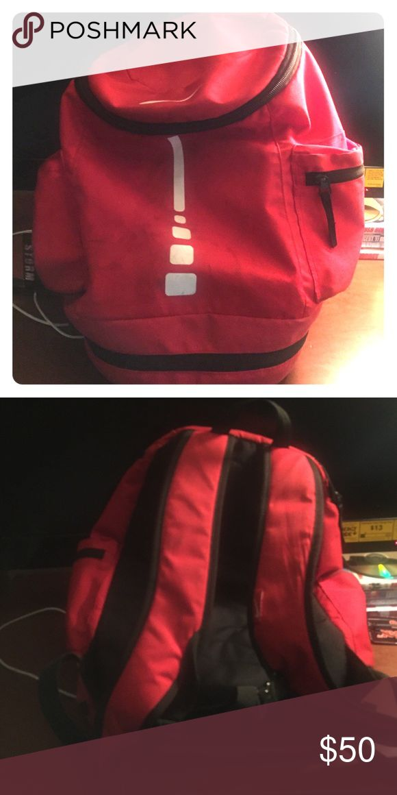 Red Nike Elite BackPack Red Nike Elite BackPack. Good in size, wore a couple of times. Still in good condition. Nike Bags Backpacks