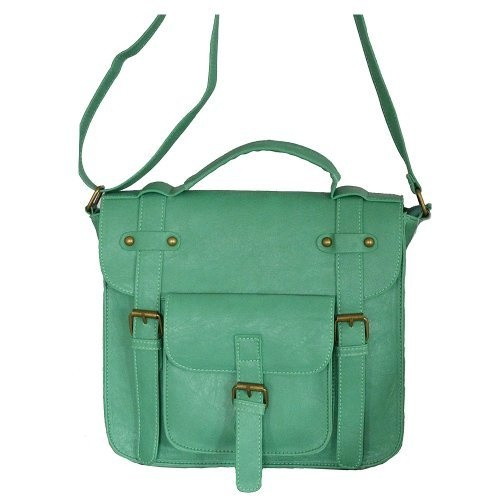 Minerva Collection Ladies Faux Leather Large Front Pocket Satchel Style Shoulder / Across Body Fashion Handbag Jade Green http://www.amazon.co.uk/dp/B001OIOPP8/ref=cm_sw_r_pi_dp_vdZUqb1CCTJEV