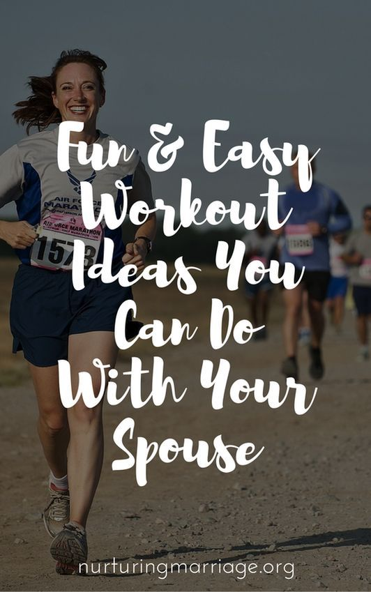 Simple, practical, and fun ways to workout with your spouse. Great list.