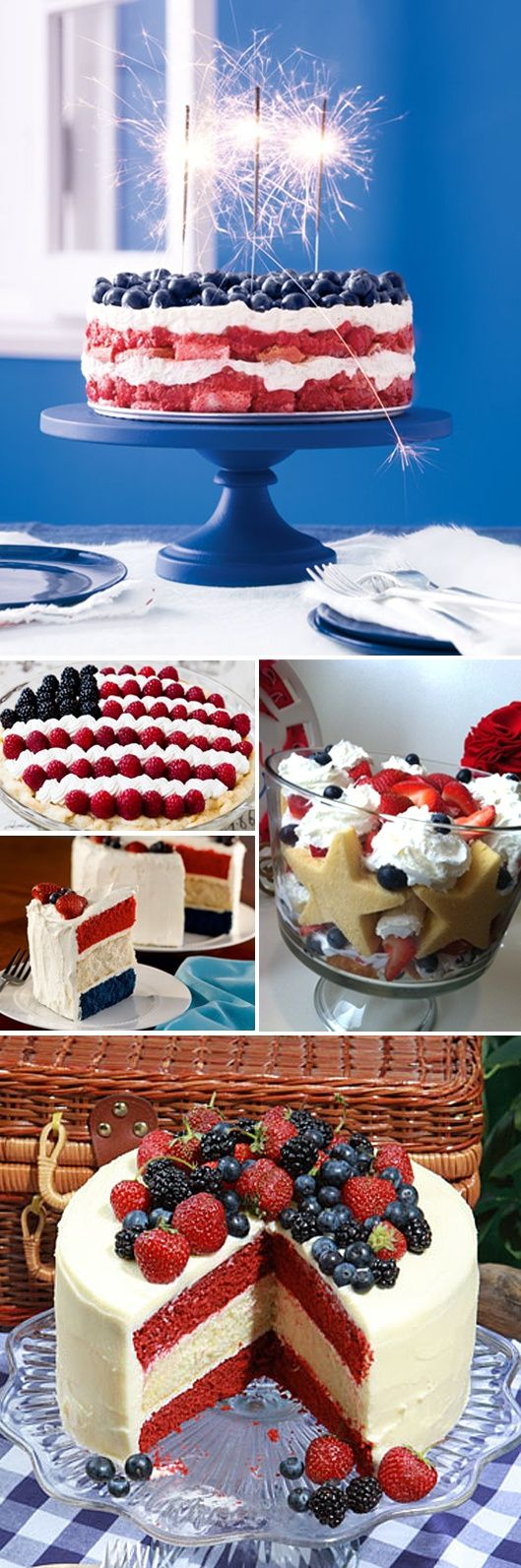 Fourth of July Desserts- can't wait for Vernon 2013!