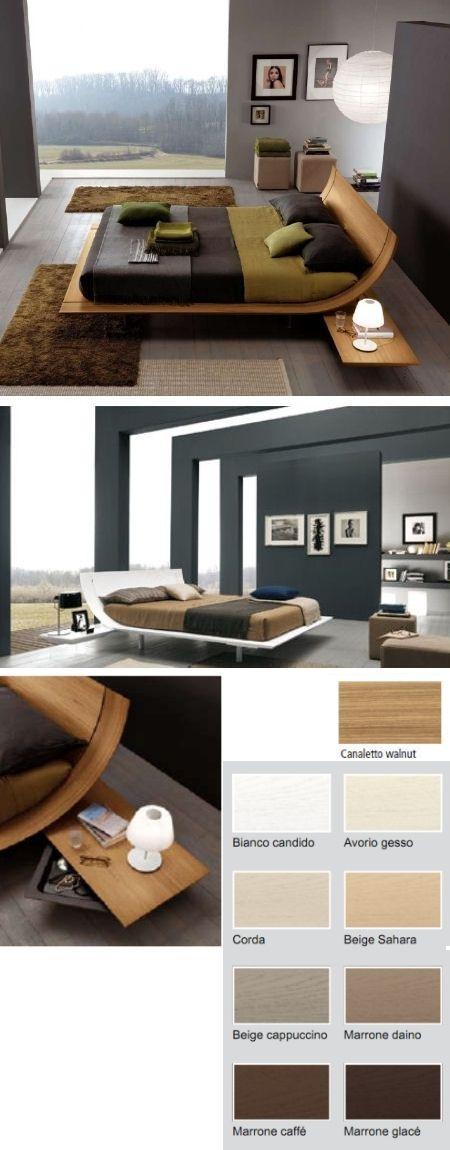 Wave Bed - Sleek beauty... Viva Italia! Cost $9000. Whew! Expensive bed.